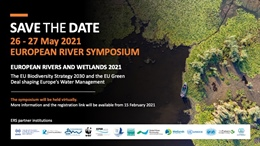 ERS2021; European Rivers and Wetlands 2021, 26 - 27 May.